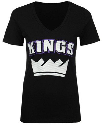 5th & Ocean Women's Sacramento Kings Mesh Logo T-Shirt