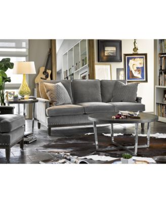 sutton round coffee table - furniture - macy's
