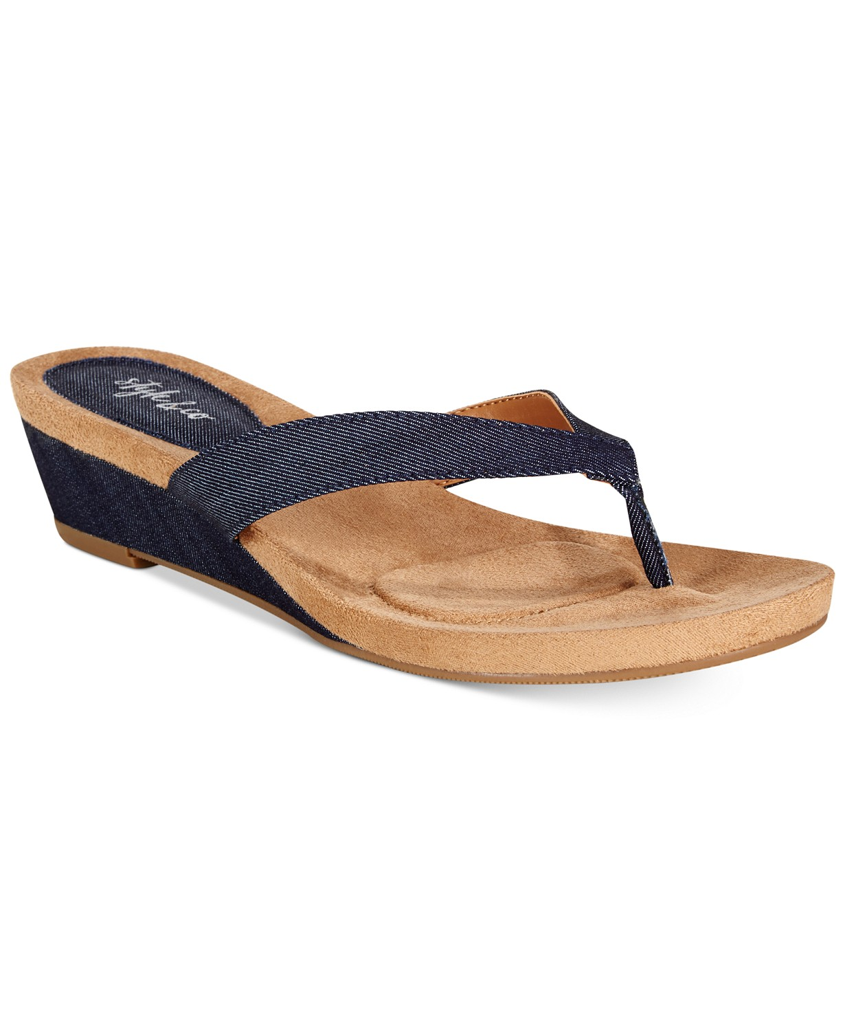 Style & Co Haloe Wedge Thong Women's Sandals