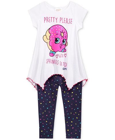 Shopkins 2-Pc. Shirt & Leggings Set, Little Girls (2-6X)