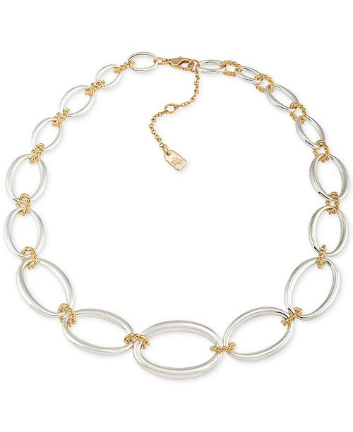 Lauren Ralph Lauren Two-Tone Large Link Collar Necklace