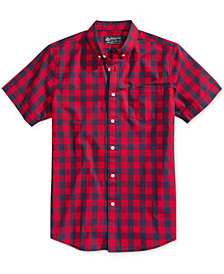 American Rag Men's Banarama Check Print Shirt, Created for Macy's