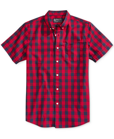 American Rag Men's Banarama Check Print Shirt, Created for Macy's