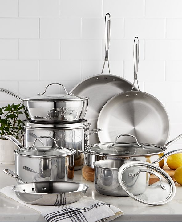 Calphalon CLOSEOUT! Tri-Ply Stainless Steel 13-Pc. Cookware Set