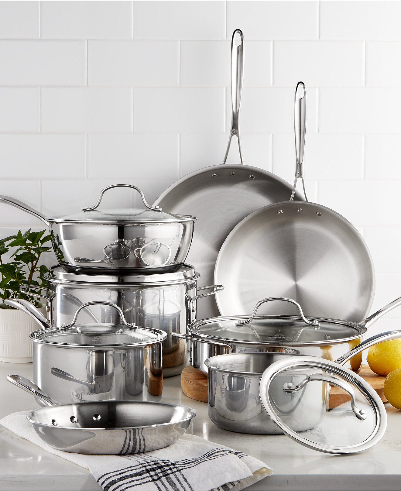 Calphalon Tri-Ply Stainless Steel 13-Pc. Cookware Set - Cookware ...