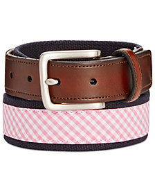 Club Room Men's Plaid Webbing Belt, Created for Macy's