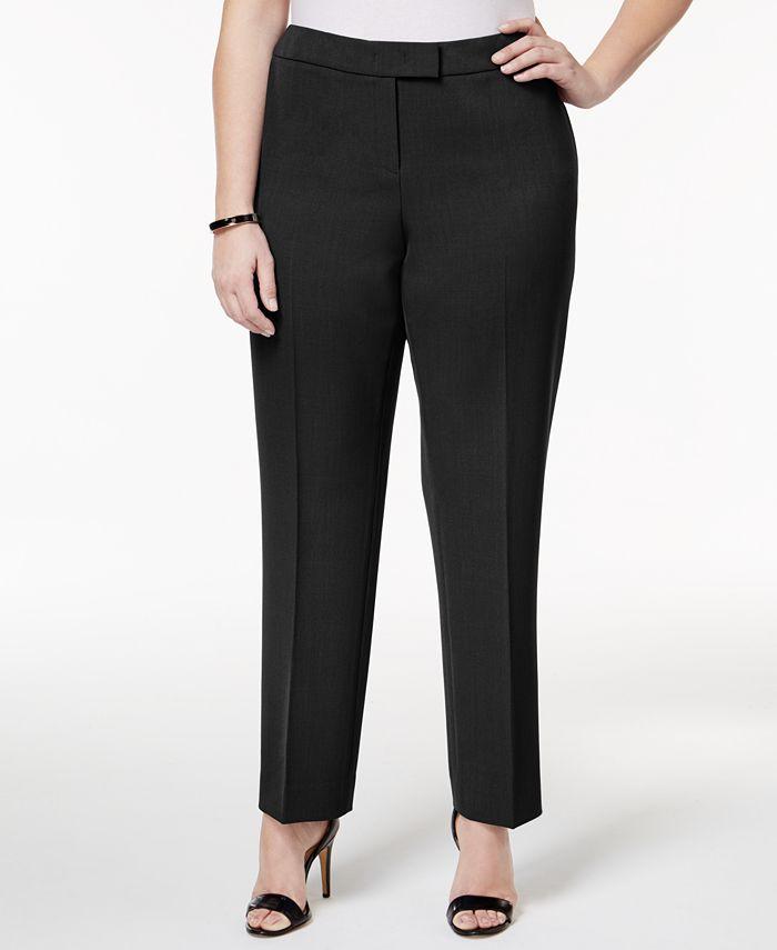 Anne Klein - Plus Size Straight-Leg Pants