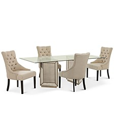 Sophia Dining Room 5-Pc. Set (76'' Table & 4 Marais Chairs)