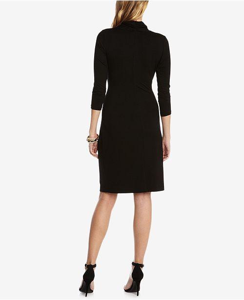 992d2b02903 Karen Kane Three-Quarter-Sleeve Faux-Wrap Dress   Reviews - Dresses ...