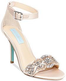 Betsey Johnson Gina Embellished Evening Sandals