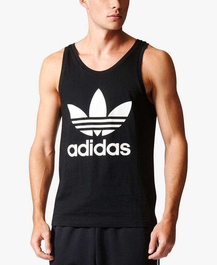 adidas Men's Trefoil Tank Top & Reviews - T-Shirts - Men - Macy's