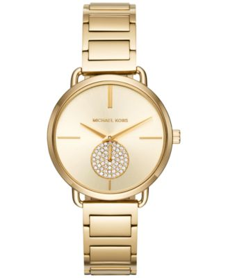 Image of Michael Kors Women's Portia Gold-Tone Stainless Steel Bracelet Watch 36mm MK3639