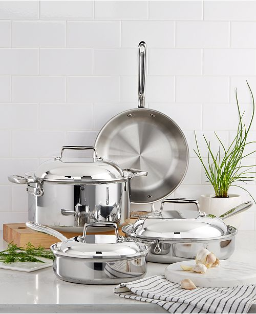 691cf8f1d500 All-Clad d7 Stainless Steel 7-Pc. Cookware Set & Reviews ...