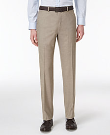Alfani Men's Slim-Fit Traveler Light Brown Neat Pants, Created for Macy's