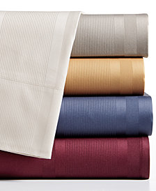 CLOSEOUT! Dobby Stripe 4-Piece Sheet Sets, 400 Thread Count, 100% Cotton, Created for Macy's