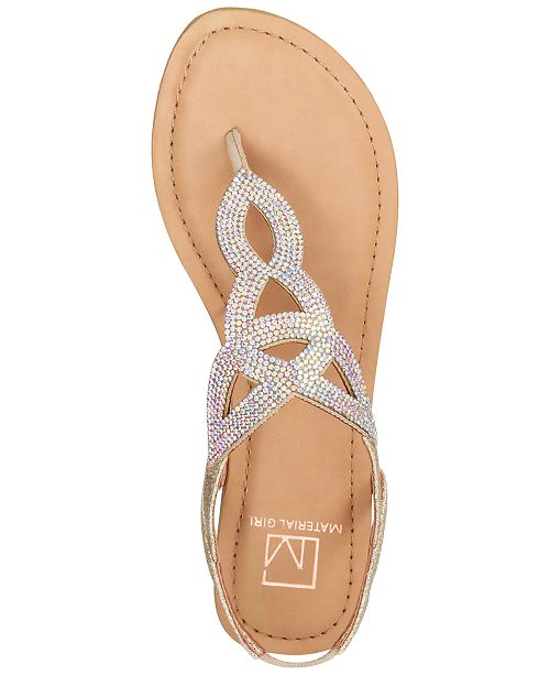 Material Girl Swirlz T Strap Flat Sandals Created For