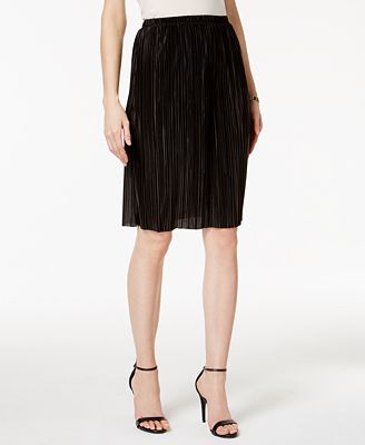 MSK Plissé Pleated Knee-Length Skirt - Skirts - Women - Macy's