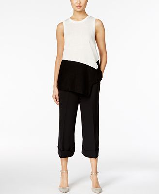 Anne Klein Asymmetrical Sweater & Culottes