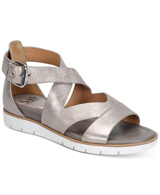 Sofft Mirabelle Leather Criss Cross Sandals