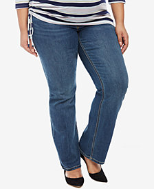 Jessica Simpson Maternity Boot-Cut Medium Wash Jeans