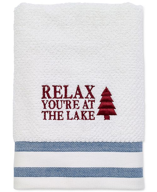"Avanti Lake Words 16"" x 28"" Hand Towel"