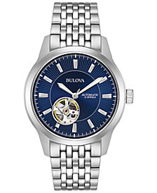 Bulova Men's Automatic Stainless Steel Bracelet Watch 40mm 96A189, Created for Macy's