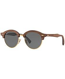 Polarized Sunglasses, RB4246M CLUBROUND WOOD