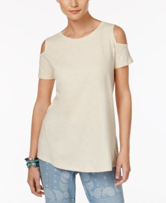 Image of Style & Co Cotton Cold-Shoulder Top, Only at Macy's