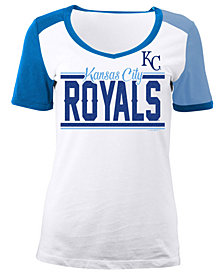 5th & Ocean Women's Kansas City Royals CB Sleeve T-Shirt