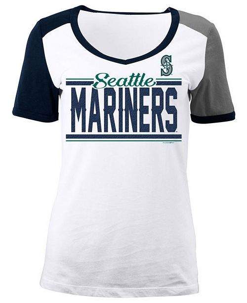 5th & Ocean Women's Seattle Mariners CB Sleeve T-Shirt