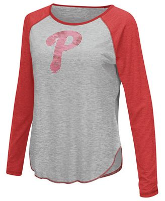 Touch by Alyssa Milano Women's Philadelphia Phillies Line Drive Long Sleeve T-Shirt
