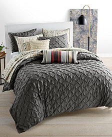 Whim by Martha Stewart Collection You Compleat Me Smoke 3-Pc. Duvet Sets, Created for Macy's