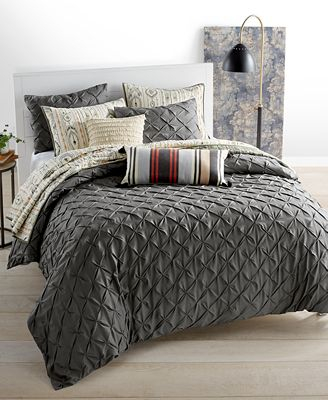 Whim by Martha Stewart Collection You Compleat Me Smoke Bedding Collection, Only at Macy's