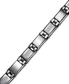 Men's Diamond Bracelet in Stainless Steel (3/4 ct. t.w.)