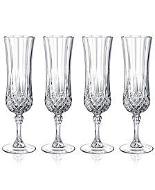 Cristal D'Arques Longchamp Set of 4 Flutes