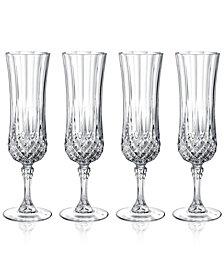 Cristal D'Arques Longchamp Set of 4 Flutes
