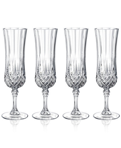 cristal d arques longchamp set of 4 flutes glassware drinkware dining entertaining macy 39 s. Black Bedroom Furniture Sets. Home Design Ideas