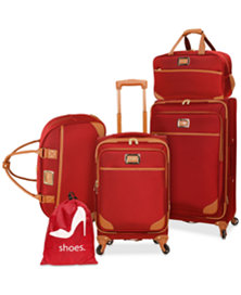 Jessica Simpson Kinsey 5-Piece Luggage Set (Red)