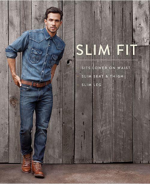 e24ea9f502 Wrangler Men s Slim Fit Jeans   Reviews - Jeans - Men - Macy s