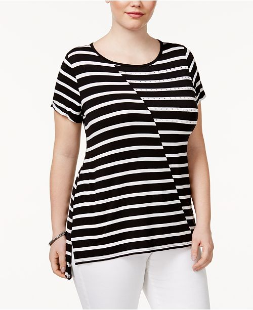 2ee799bc3e1 Plus Size High-Low T-Shirt. Be the first to Write a Review. main image   main image ...