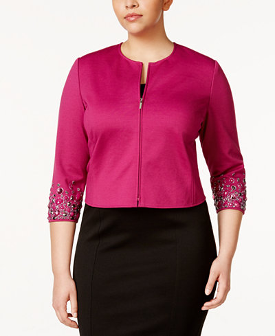 Anne Klein Plus Size Embellished Jacket