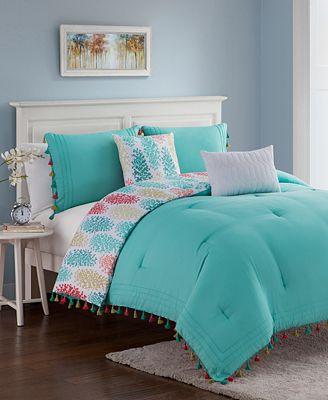 CLOSEOUT! Celeste 5-Pc. Reversible Comforter Sets