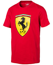 Puma Men's Ferrari Big Shield Cotton T-Shirt