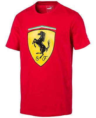 puma mens ferrari big shield cotton tshirt tshirts