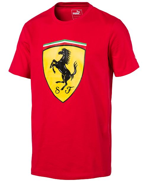 d3664d27f6b Puma Men's Ferrari Big Shield Cotton T-Shirt & Reviews - T-Shirts ...