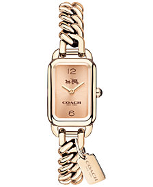 COACH Women's Ludlow Rose Gold-Tone Bracelet Watch 17x24mm 14502723