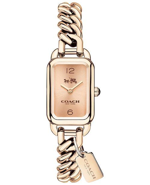 Coach Women S Ludlow Rose Gold Tone Bracelet Watch 17x24mm