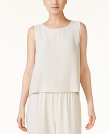 Eileen Fisher SYSTEM Silk Shell, Regular & Petite