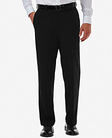 Men's Haggar Cool 18 PRO® Classic-Fit Expandable Waist Flat Front Stretch Dress Pants
