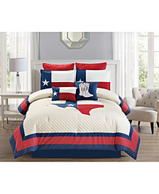 CLOSEOUT! Ryden 8-Pc. Quilted Queen Comforter Set